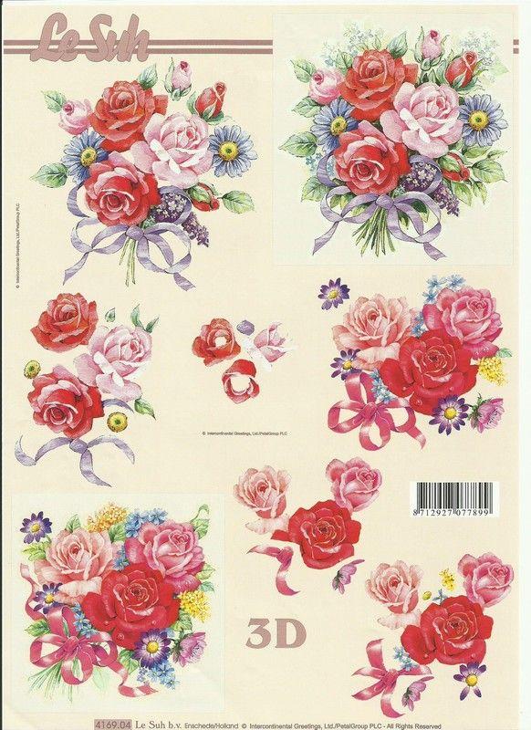 planches 3d fleurs